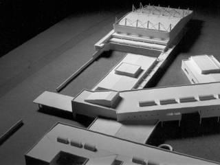 Escola EB2,3 de Ílhavo Espaços de trabalho ecléticos por Jorge Cruz Pinto + Cristina Mantas, Arquitectos Eclético