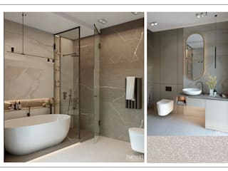 ЖК Башня CHKALOV Ванная комната в стиле модерн от MOSS_Design_Studio Модерн