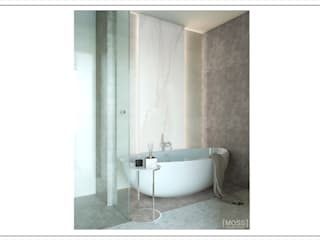ЖК ЧЕТЫРЕ СЕЗОНА Ванная комната в стиле минимализм от MOSS_Design_Studio Минимализм