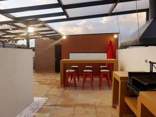 Rustic style dining room by TikTAK ARQUITECTOS Rustic