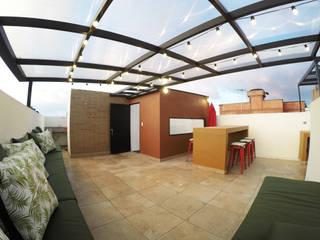 Rustic style living room by TikTAK ARQUITECTOS Rustic