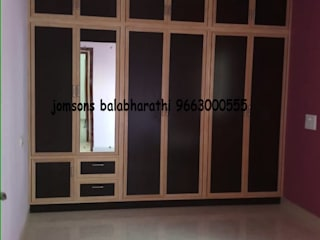 balabharathi pvc interior design BedroomWardrobes & closets Plastic Wood effect