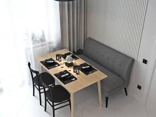 """ПРОЕКТ """"ЧИСТЫЙ"""" в Краснодаре Кухня в стиле минимализм от L.E.DESIGNINTERIOR Минимализм"""