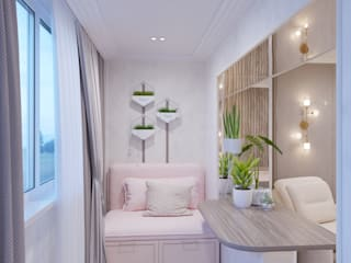 Дизайн проект гостиной совмещенной с лоджией от Стильная обстановка Эклектичный
