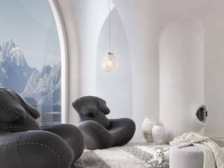 'Nagababa' armchair and interior design Nowoczesny salon od Wamhouse Nowoczesny