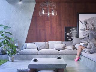 Greenhouse - livingroom Nowoczesny salon od Wamhouse Nowoczesny