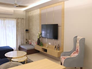 2 BHK Budget residence: modern  by Esthetics Interior,Modern