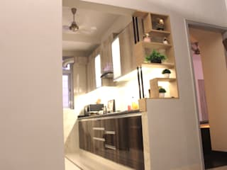 2 BHK Budget residence: colonial  by Esthetics Interior,Colonial