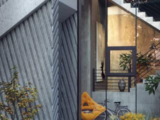 Pentahouse - Nowoczesny korytarz, przedpokój i schody od Wamhouse Nowoczesny