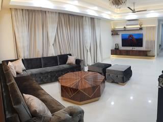 4 BHK residence Modern living room by Esthetics Interior Modern