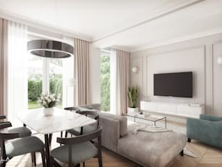 Visualizations for home staging / Wizualizacje dla home staging Klasyczny salon od Kola Studio Architectural Visualisation Klasyczny