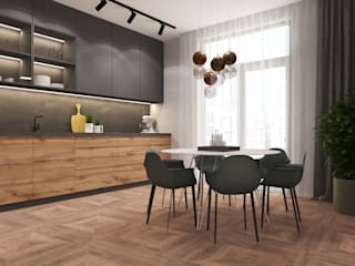 Студия дизайна интерьера квартир в Киеве belik.ua Minimalist kitchen