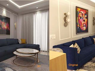 3D proposal & Actuals by Esthetics Interior