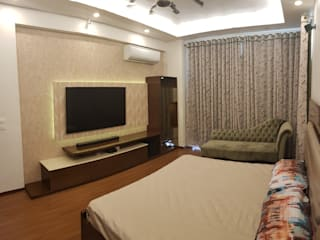 3 BHK Residence Modern style bedroom by Esthetics Interior Modern
