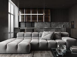 Minimalist living room by IQOSA Minimalist