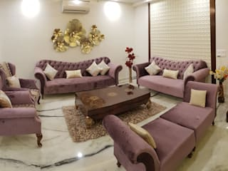 Residencial Project -3 Classic style living room by Esthetics Interior Classic
