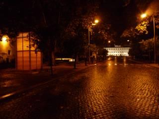 Quiosque - Lanterna Urbana de Vila Viçosa Espaços de trabalho ecléticos por Jorge Cruz Pinto + Cristina Mantas, Arquitectos Eclético