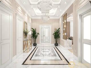 Частный дом в стиле неоклассика, г.Ессентуки Коридор, прихожая и лестница в классическом стиле от ООО 'Студия дизайна Инталио' Классический