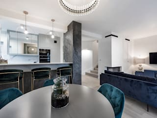 Modern dining room by livinghome wnętrza Katarzyna Sybilska Modern