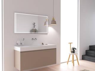 KitBanho ® ห้องน้ำตู้เก็บของในห้องน้ำ แผ่น MDF Beige