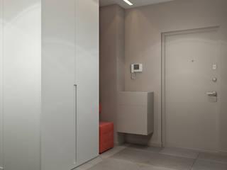 Студия дизайна интерьера квартир в Киеве belik.ua Minimalist corridor, hallway & stairs