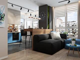 Студия дизайна интерьера квартир в Киеве belik.ua Вітальня