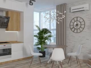 Квартира в новостройке Кухня в скандинавском стиле от Группа Компаний «ПРОЕКТ» Скандинавский