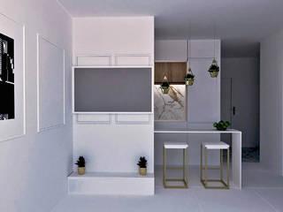 Mieszkanie w bieli od AN Koncept Anita Niziałek Nowoczesny