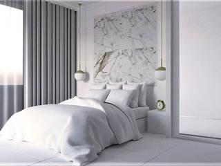 Mieszkanie w bieli Minimalistyczna sypialnia od AN Koncept Anita Niziałek Minimalistyczny