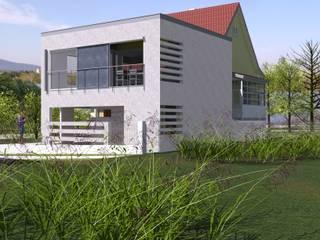 Extension d'une maison par une nouvelle salle de séjour d'inspiration contemporaine Maisons minimalistes par A.FUKE-PRIGENT ARCHITECTE Minimaliste