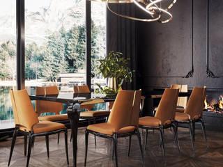 VITTAGROUP Salon minimaliste Bois Noir