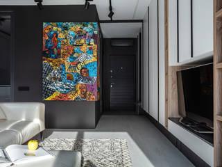 Аязбаева Карлыгаш Minimalist corridor, hallway & stairs