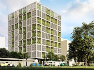 """""""Green Box"""" - Architecture Design of College in Mumbai by Basics Architects Modern schools by Basics Architects Modern"""