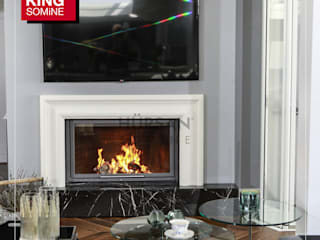 Kİng Şömine Living roomFireplaces & accessories Marble Grey