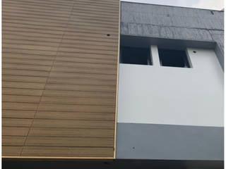 【品茉設計推薦- 家的霓裳豔影:環塑木-3.隔熱、阻燃】 現代房屋設計點子、靈感 & 圖片 根據 品茉空間設計(夏川設計) 現代風
