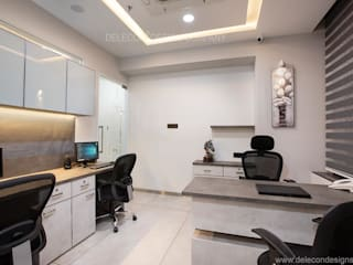 Millenium Group Office at Kharghar Minimalist study/office by DELECON DESIGN COMPANY Minimalist