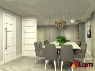 Nowoczesny salon od LAM Arquitetura | Interiores Nowoczesny