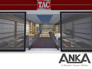 ANTALYA / MANAVGAT NOVAMALL AVM TAÇ MAĞAZASI Anka İç Mimarlık Tasarım Mobilya Alışveriş Merkezleri Ahşap Ahşap rengi