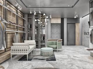 CRK İÇ MİMARLIK – Victorious Showroom Design : modern tarz , Modern