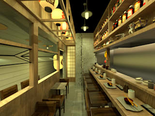 焼き鳥屋 アジア風レストラン の Design Tree Ltd 和風