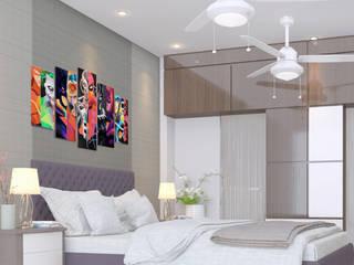 Residential 3D Interior Design by Glassbox Plus Architects Minimalist