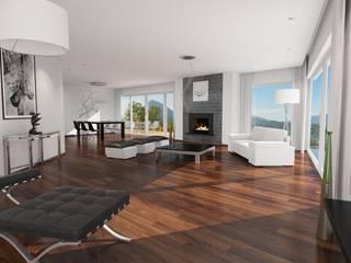 Modern Living Room by 3D Visualisierung epromod Modern