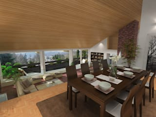 Modern Dining Room by 3D Visualisierung epromod Modern