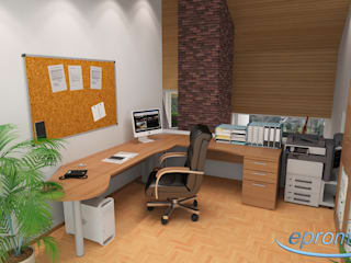 Modern Study Room and Home Office by 3D Visualisierung epromod Modern