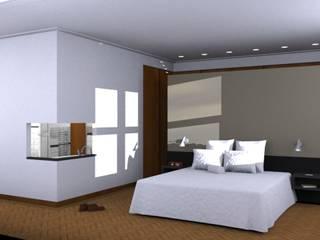 badkamerverbouwing Moderne slaapkamers van ontwerpburo rob guillonard Modern