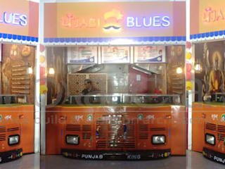 Punjabi Blues : Food Outlet by abacas : architects & interior designers Modern