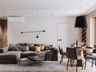 Гостиная Гостиная в скандинавском стиле от CGM studio Скандинавский