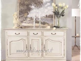 Mobili a Colori Mediterranean style dining room Wood White