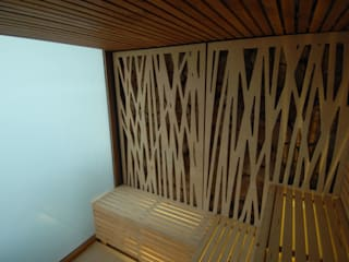 Sauna Hotel Maricel Hoteles de estilo minimalista de Artspa Gunitec sas Minimalista