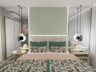 Quarto casal Quartos ecléticos por Fabiana Poeta Decoração e Design de Interiores Eclético